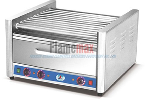 HHW-09 9-roller hot dog grill with food warmer in Foshan