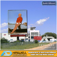 Custom Design Spectacular Advertising Column Billboard Structure