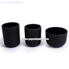 Wholesale Home Decoration Frosted Black Series Glass Candle Jar