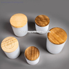 glossy white glass candle holder tealight glass candle jar with wooden lid
