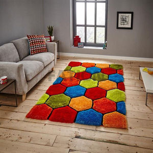 Colorful 3D Effect Shag Carpet Unique Area Rug