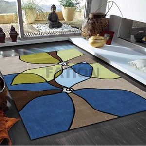 Hand Tufted Home Area Rug High Density Floor Carpet