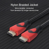 1080P Nylon Braid HDMI 1.4 Cable Support 3D, 4K