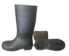 2017 new cheap black steel safety rain boots