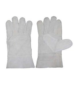 1302 cow split welder gloves reinforced palm