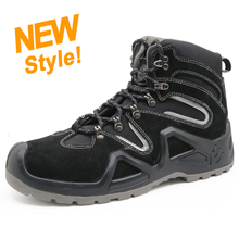 ENS020 new black suede leather antistatic workman safety shoes industrial