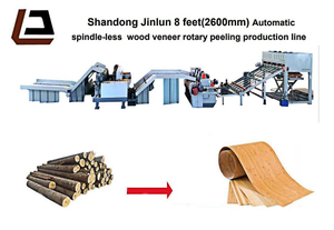 Automatic Wood Veneer Rotary Peeling Production Line