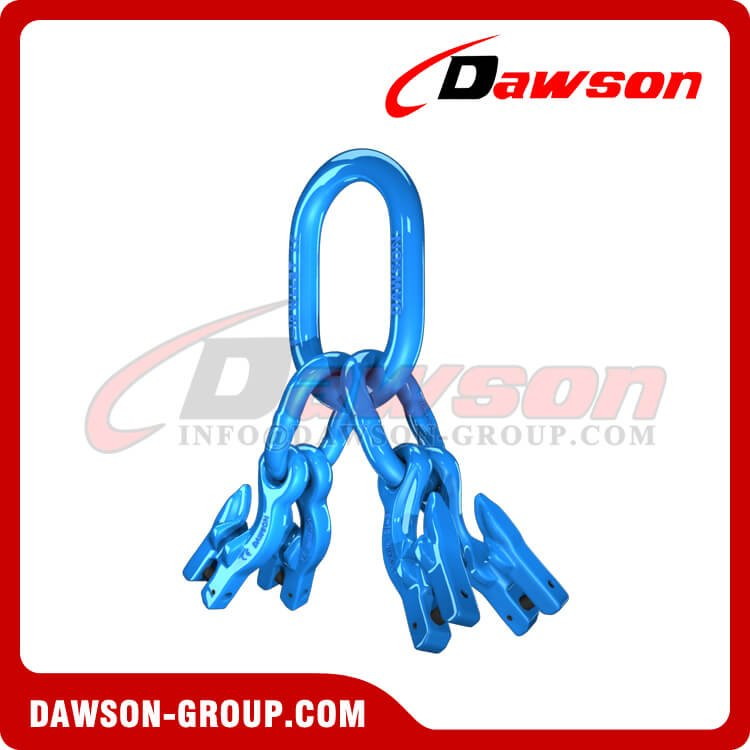 G100 Master Link Assembly + G100 Eye Grab Hook with Clevis Attachment×4 - Dawson Group Ltd. - China Manufacturer, Supplier