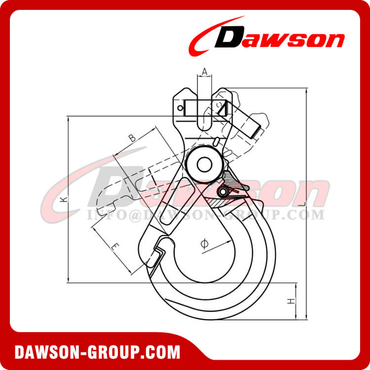 DS1017 G100 Special Clevis Selflock Hook with Grip - Dawson Group Ltd. - China Manufacturer Supplier, Factory