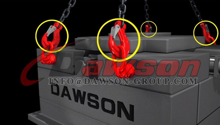 Application of G80 Clevis Sling Hook with Latch - Dawson Group Ltd. - China Factory, Supplier