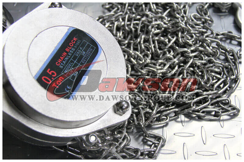 Dawson DSS-F stainless steel chain block - China Factory