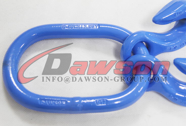 G100 Forged Master Link with 2 Eye Grab Hook with Clevis Attachment for Adjust Chain Length - Dawson Group - China Factory