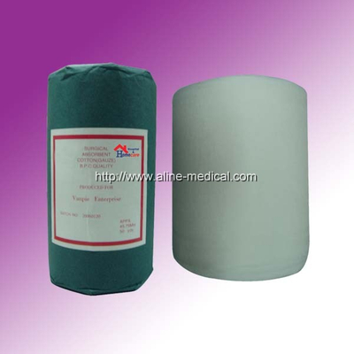 Bleached absorbent gauze roll