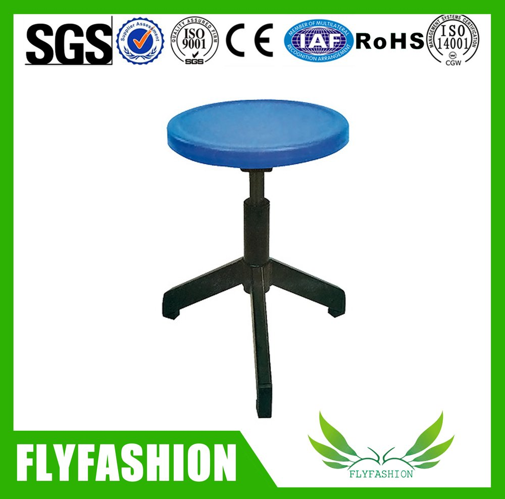 chemical laboratory metal feet round stool(PC-36)
