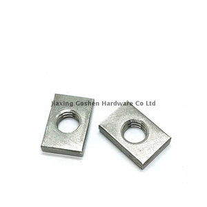 metric m3 stainless steel rectangular flat nuts with threaded hole