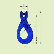 G100 EUROPEAN TYPE CLEVIS SELF-LOCKING HOOK
