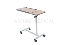 Deluxe, Tilt-Top Overbed Table,Double Top (YJ-6900)adjustable height and angle