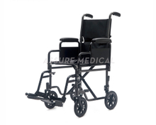 YJ-BL05 Steel transit wheelchair, detachable arm