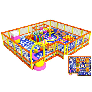 Colourful Amusement Just To Go Themed Ball pit for kids