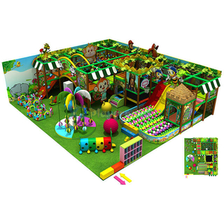 Jungle Theme Gym Entertainment Kids Soft Indoor Playground for sale
