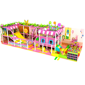Candy Themed Kindergarten Amusement Children Indoor Playground with Ball Pit