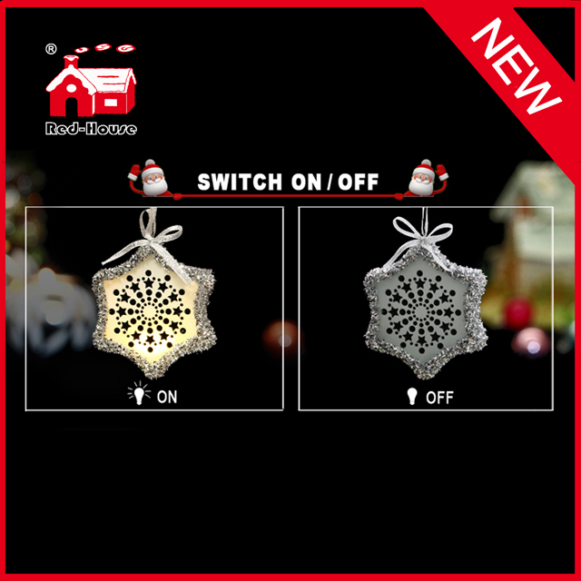 New Festive Decorative Christmas Tree Decoration Snowflake Light