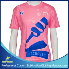 Custom Sublimation Girl's Lacrosse Short Sleeve Shooter