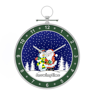 Snow Ball Music Box Wall Clock Decor Wall Hanging Decoration