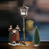 Red House Mini Table Lamp Christmas Lamp Snowing Lamp Christmas Decoration Supplies