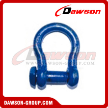 Trawling Bow Shackle Oversized Square Head with Blue Painted