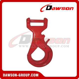 Grade 80 / G80 Long Body Forged Steel Clevis Self-locking Hook for Web Sling