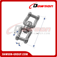 Stainless Steel Swivel Jaw and Jaw with Internal Hexagon Pin