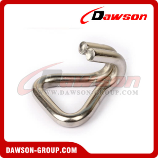 DSWH25081 BS 800KG / 1760LBS Stainless Steel Double J Hooks