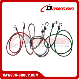 Elastic Cords, Bungee Cords With Plastic Safety Hooks