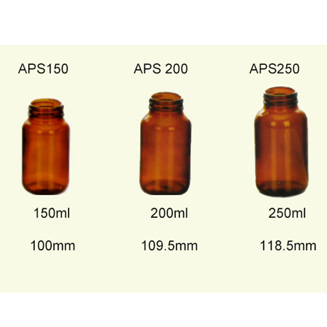 Amber Glass Pharmacy Bottles