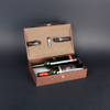 Wine Box Manufacturer Brown PU leather wine package
