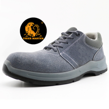 2021 New Anti Slip Suede Leather Sport Safety Shoes Steel Toe