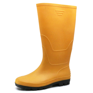 Yellow Anti Slip Lightweight Non Safety PVC Wellington Rain Boots