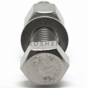 Stainless steel 304 din933 hex bolt with nut and washer