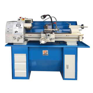 D290V - 11in x 28in Gear Head Metal Lathe With Stand