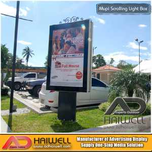 Outdoor Scrolling Light Box- LED Lighting- Adhaiwell