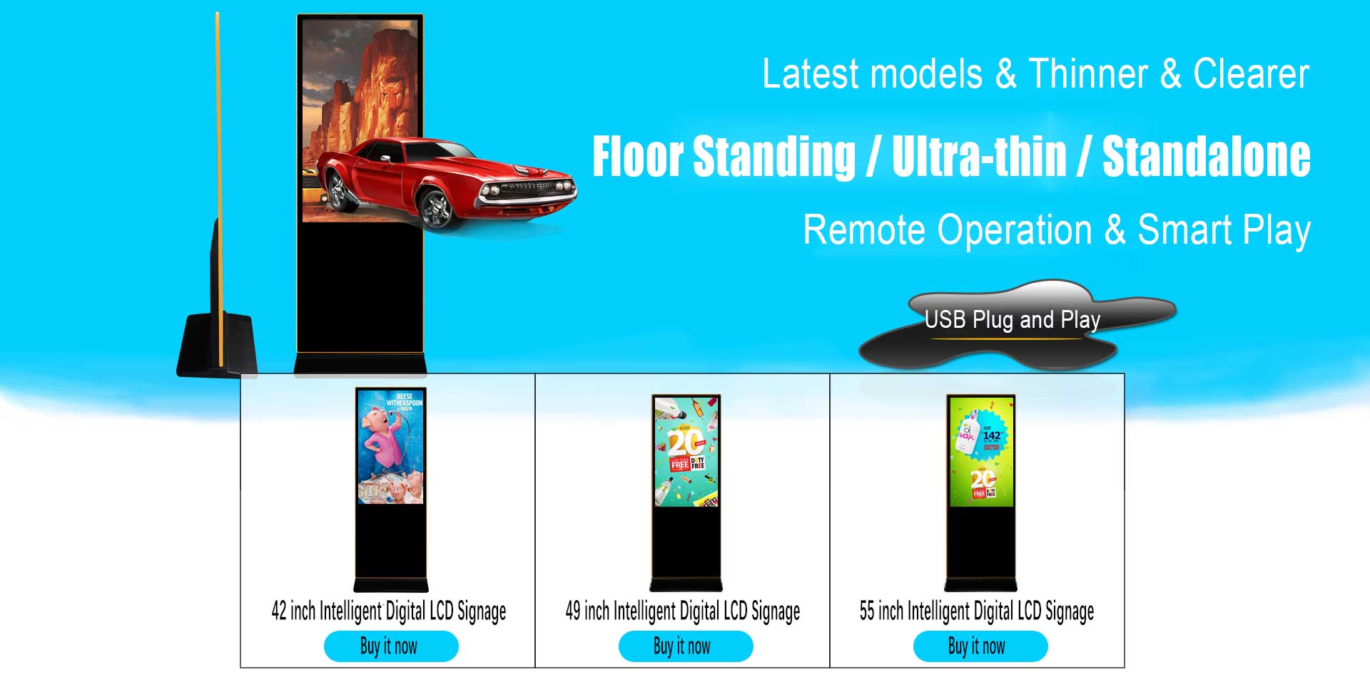 Floor-Standing-Standalone-Digital-LCD-Signage