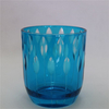 sprayed color blue series glass candle holder