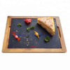 slate stone cheese board and tray with rope