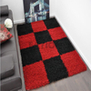 5'×8' Soft Modern Shaggy Rug Red Multi Shag Carpet