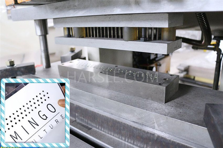 Plastic Sleeves Hole Punching Machine