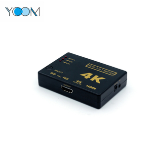 Ultra 4K Black HDMI Switch 3 to 1
