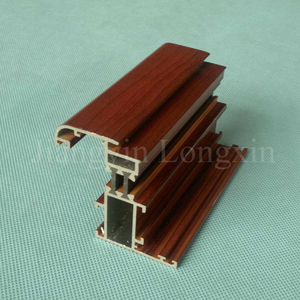 Wooden Print Aluminium Profile for casement Window thermal break