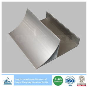 Silver Anodizing Aluminium Profile as Round Corner