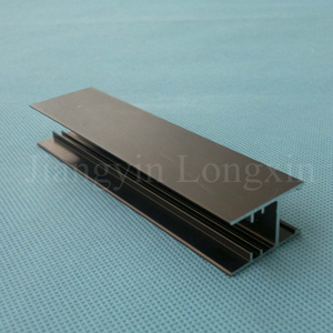 Black Anodized Aluminum Profile for Windows and Doors